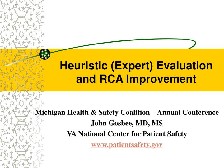 heuristic expert evaluation and rca improvement n.