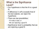 what is the significance level