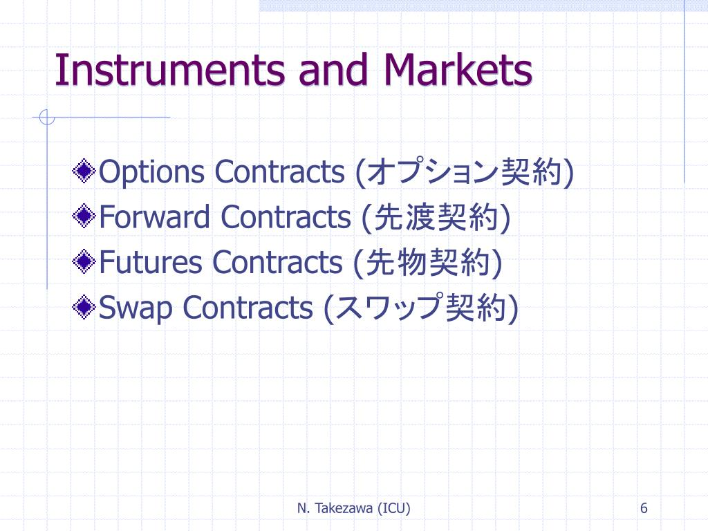 Instruments and Markets