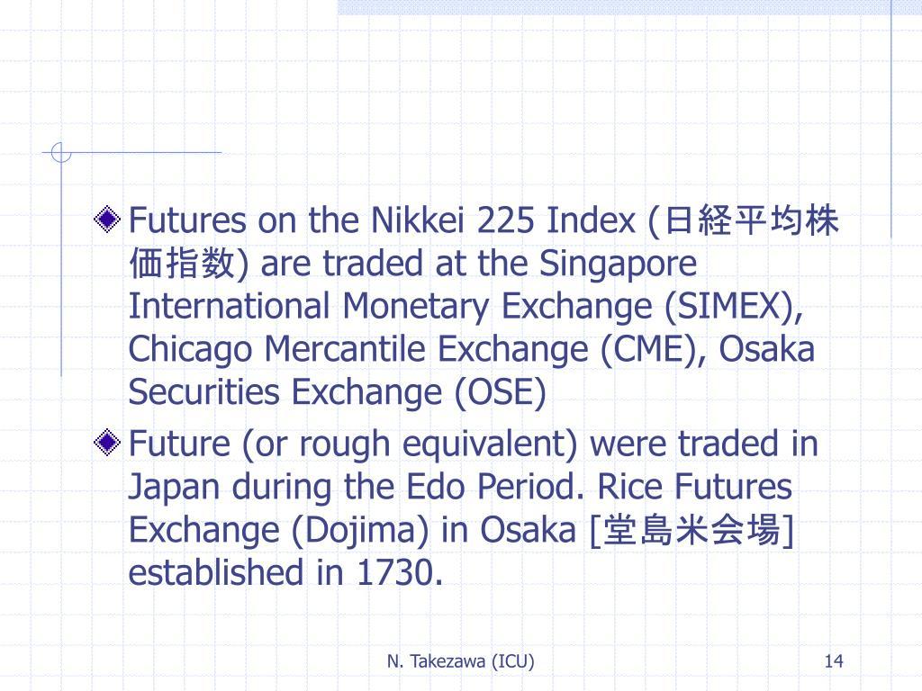 Futures on the Nikkei 225 Index (