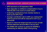 banking sector deposit protection scheme