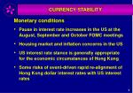 monetary conditions