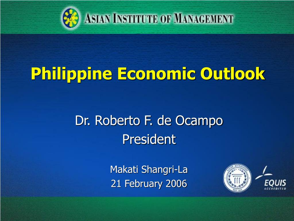 philippine economic outlook l.