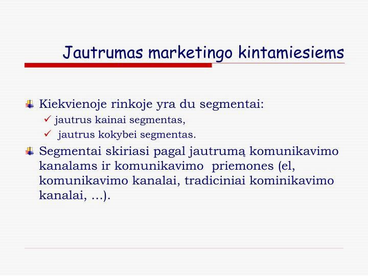 Jautrumas marketingo kintamiesiems