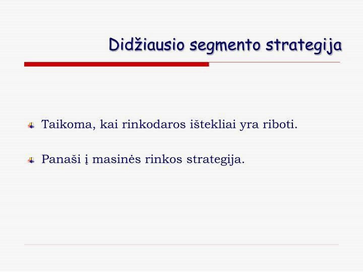 Didžiausio segmento strategija