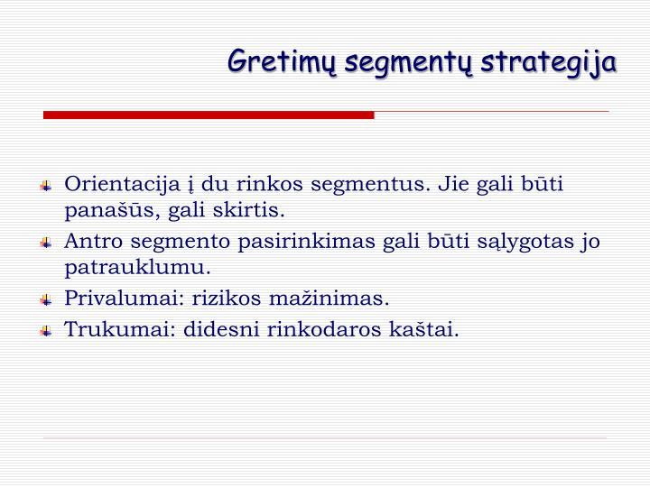 Gretimų segmentų strategija