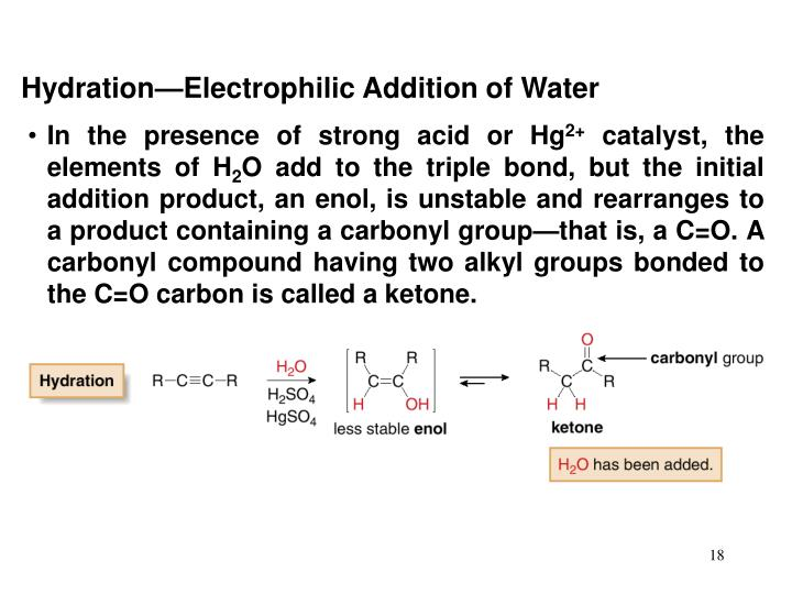 Hydration—Electrophilic Addition of Water