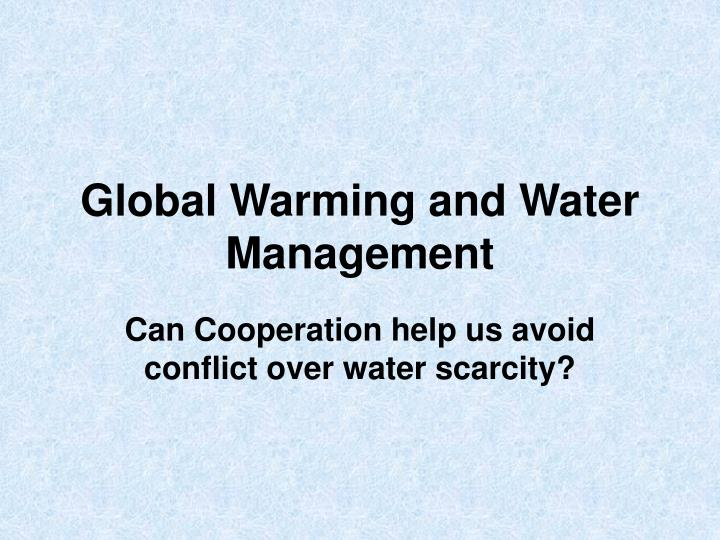 global warming and water management n.