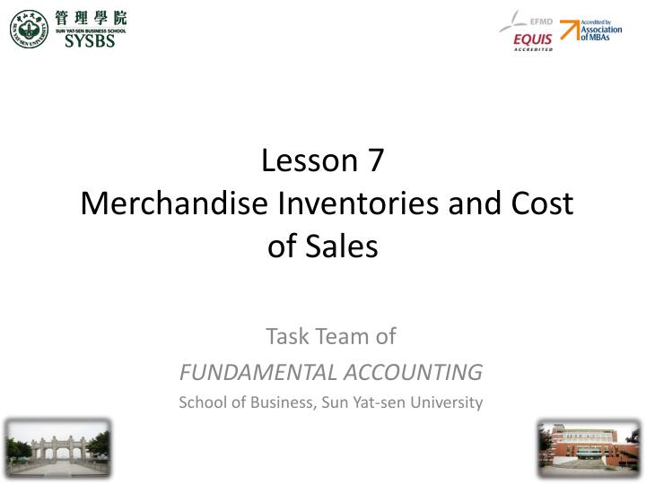 lesson 7 merchandise inventories and cost of sales n.