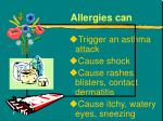 allergies can