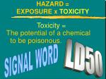 hazard exposure x toxicity1