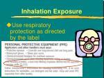 inhalation exposure1