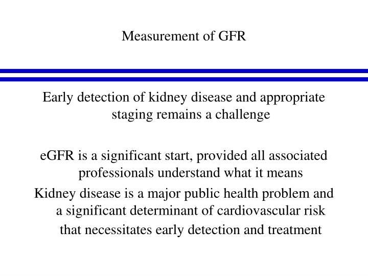 Measurement of GFR