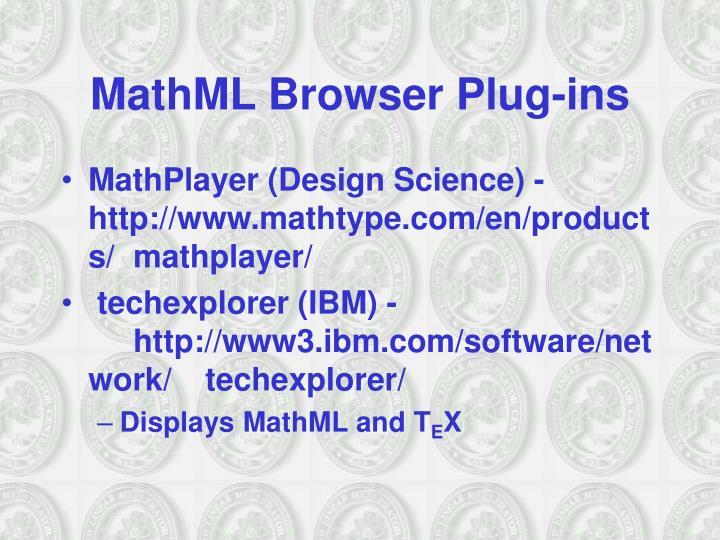 MathML Browser Plug-ins