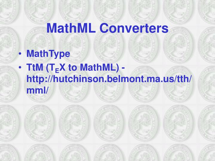 MathML Converters