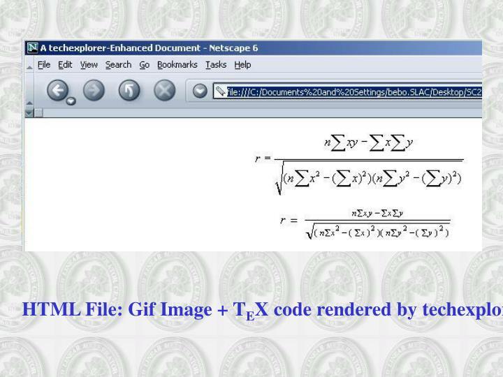 HTML File: Gif Image + T