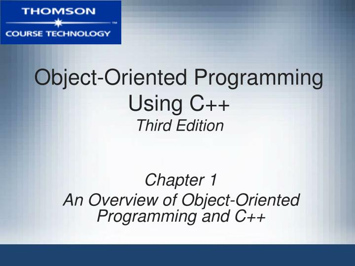 object oriented programming using c third edition n.