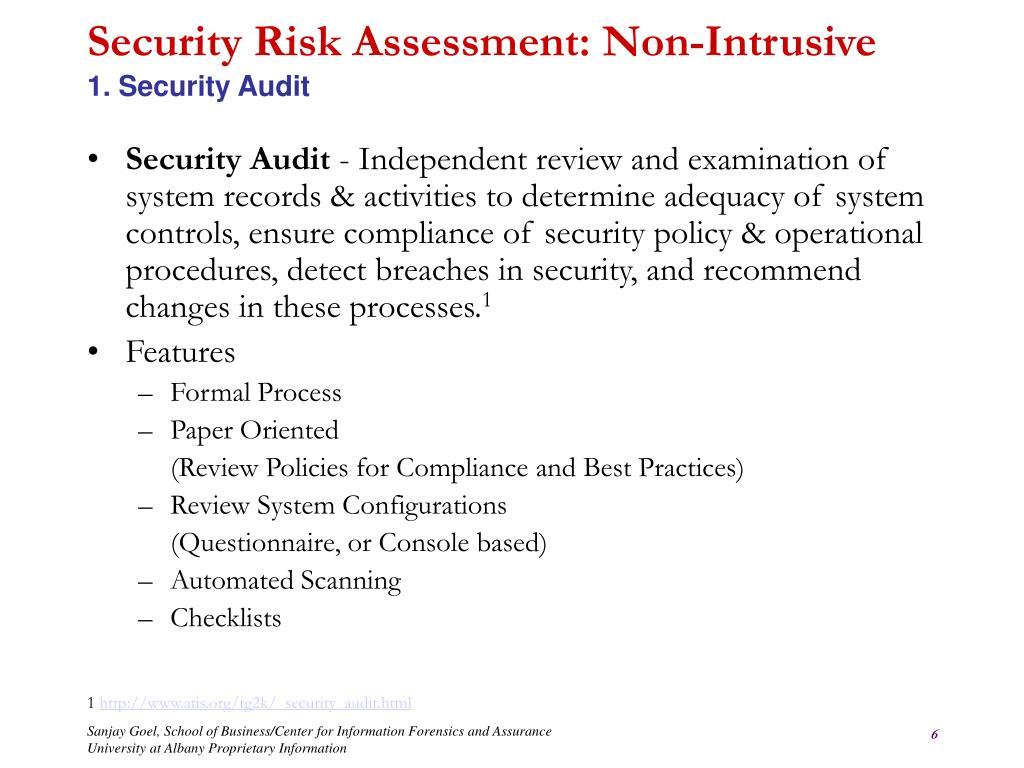 PPT - Unit Outline Information Security Risk Assessment