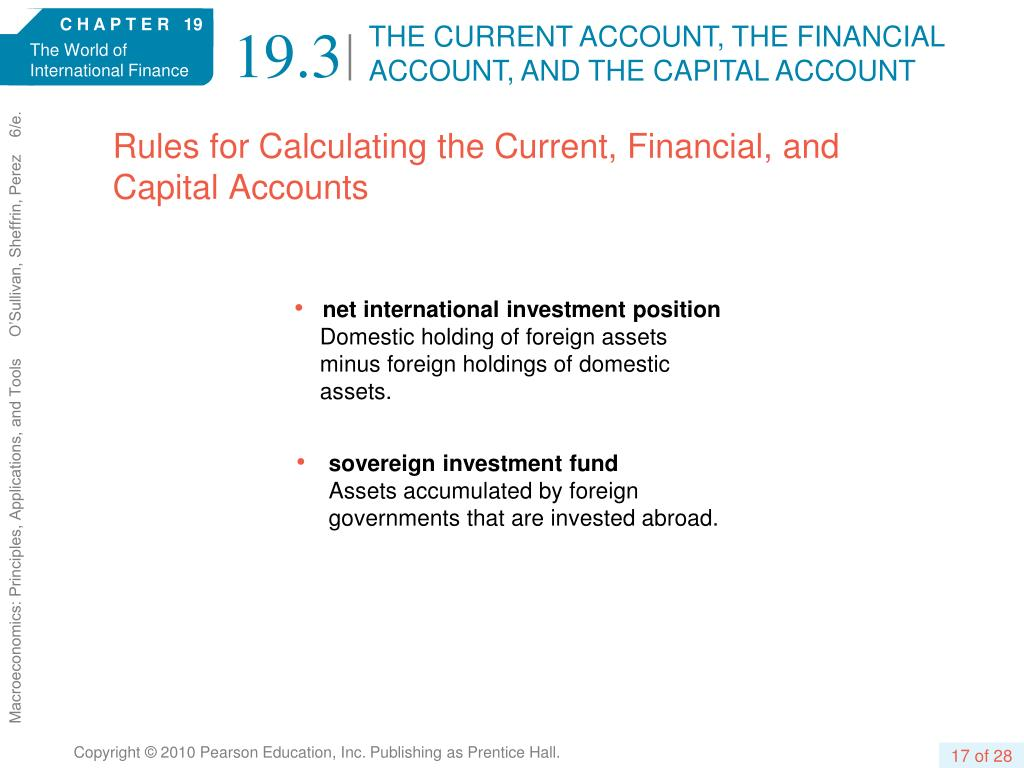 THE CURRENT ACCOUNT, THE FINANCIAL