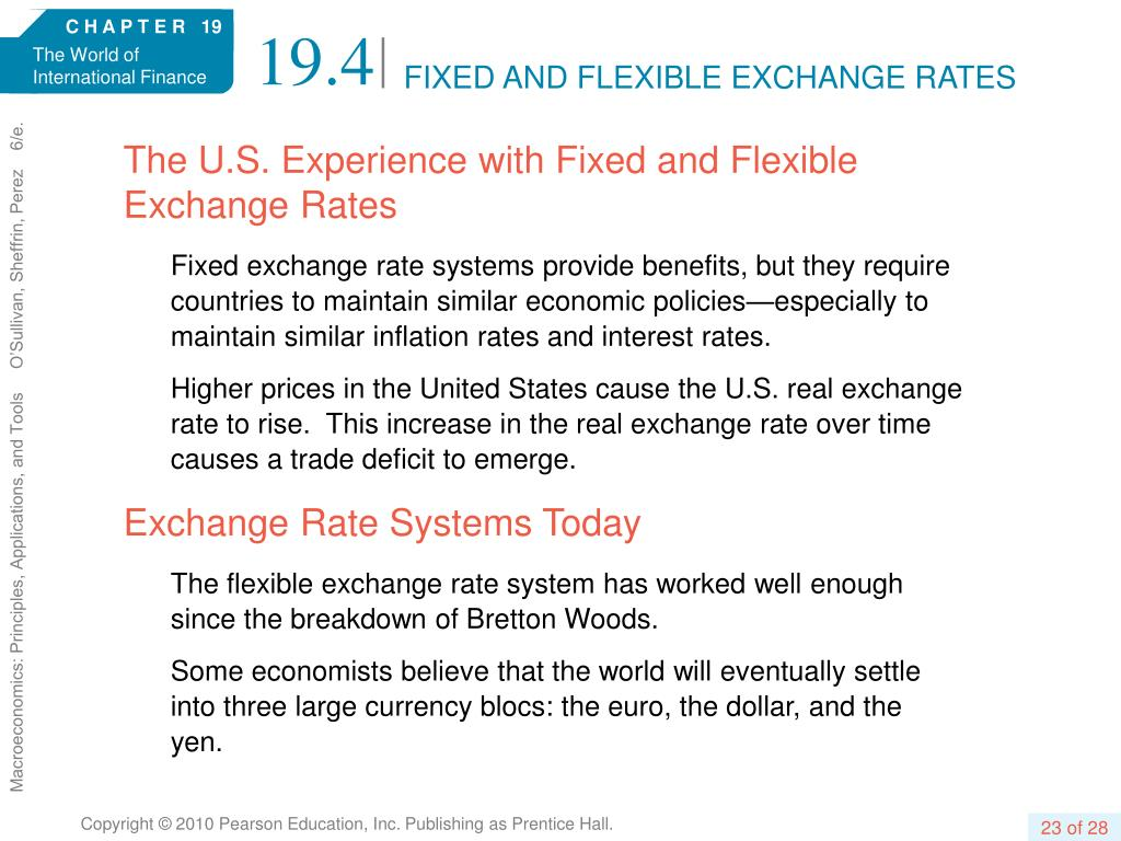FIXED AND FLEXIBLE EXCHANGE RATES