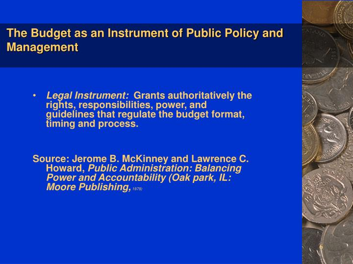 the budget as an instrument for national development — national water infrastructure development funding instrument to repair the budget and fund policy priorities national innovation and.
