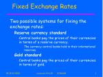 fixed exchange rates