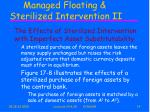 managed floating sterilized intervention ii