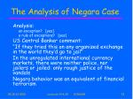 the analysis of negara case