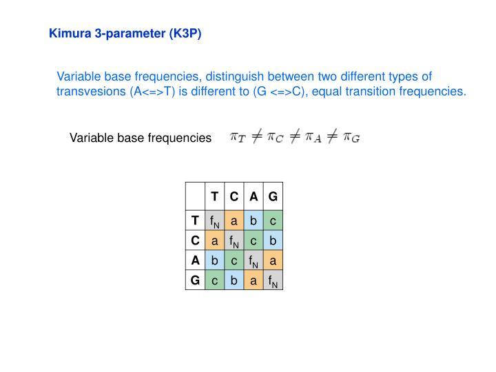 Kimura 3-parameter (K3P)