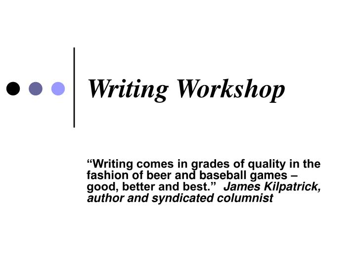 writing workshop n.