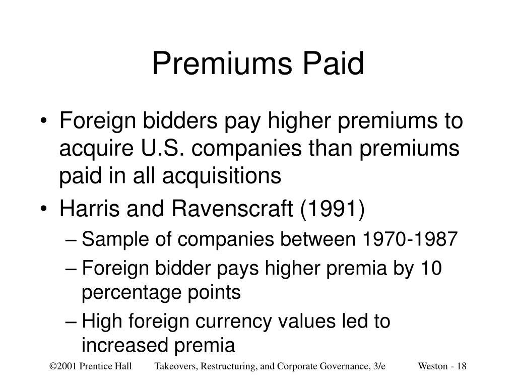 Premiums Paid