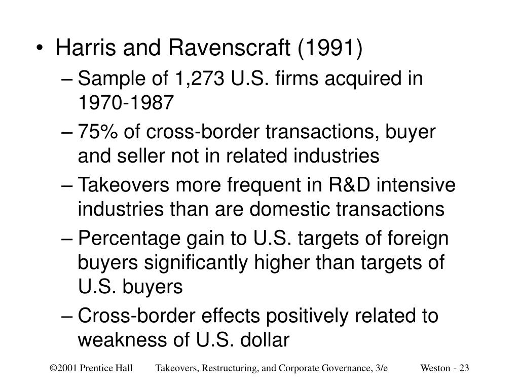 Harris and Ravenscraft (1991)