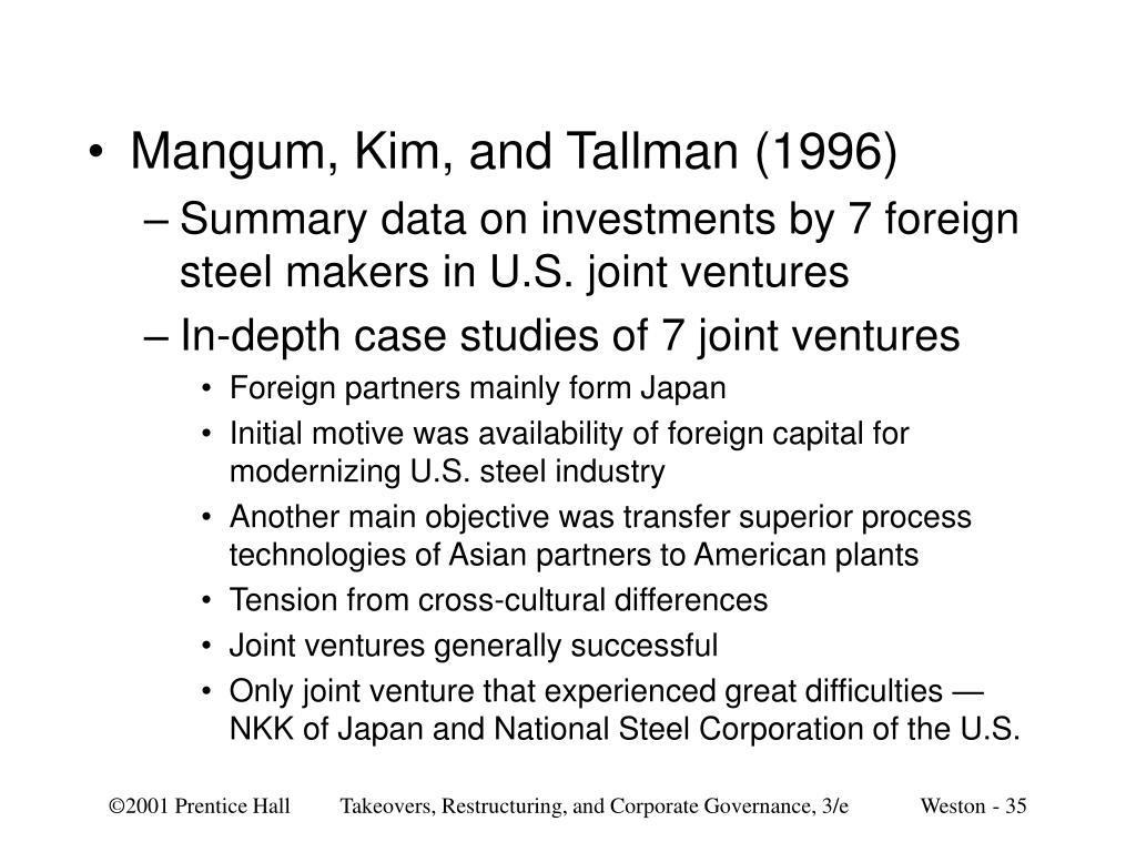 Mangum, Kim, and Tallman (1996)