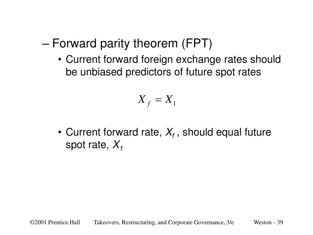 Forward parity theorem (FPT)