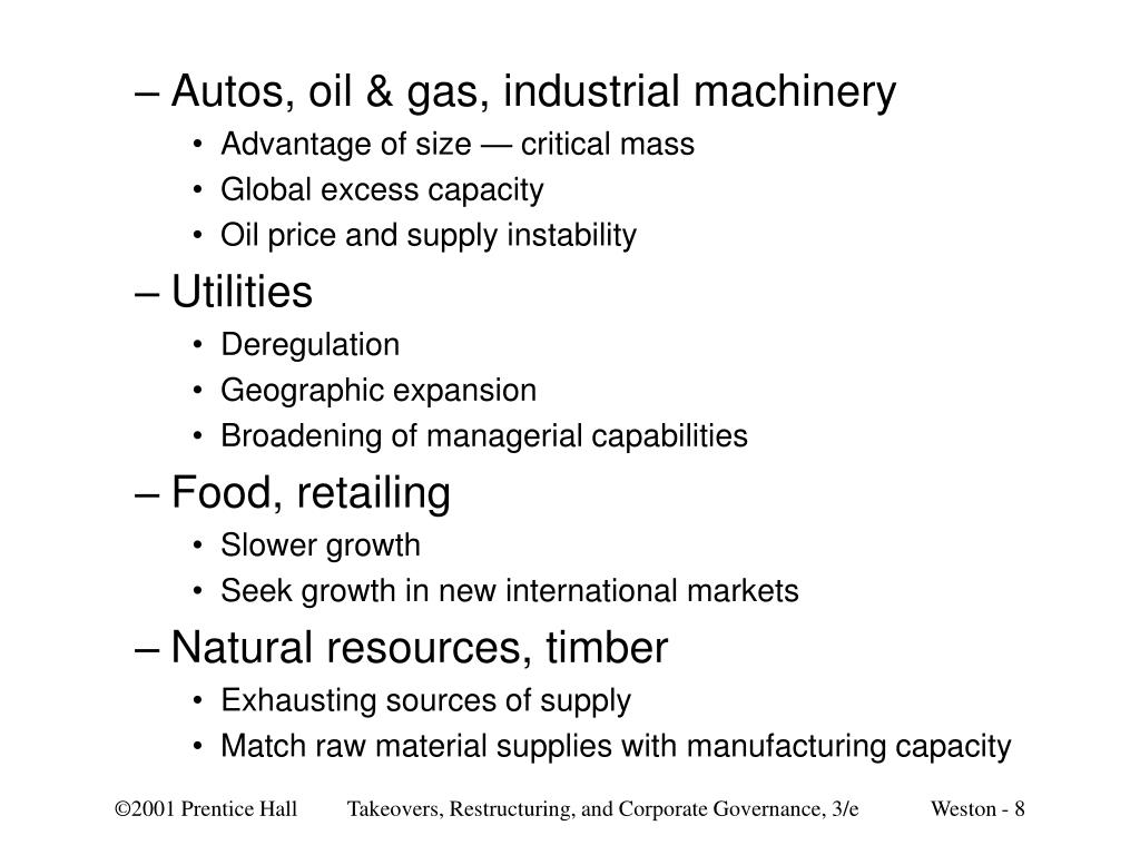 Autos, oil & gas, industrial machinery