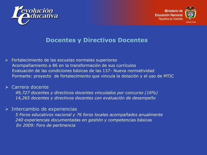 Docentes y Directivos Docentes