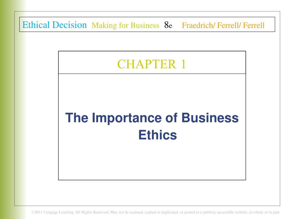 Ppt The Importance Of Business Ethics Powerpoint Presentation Id