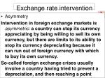 exchange rate intervention