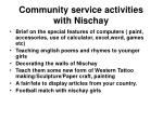 community service activities with nischay