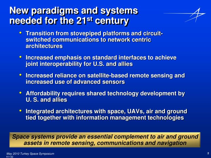 New paradigms and systems needed for the 21 st century