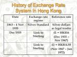 history of exchange rate system in hong kong
