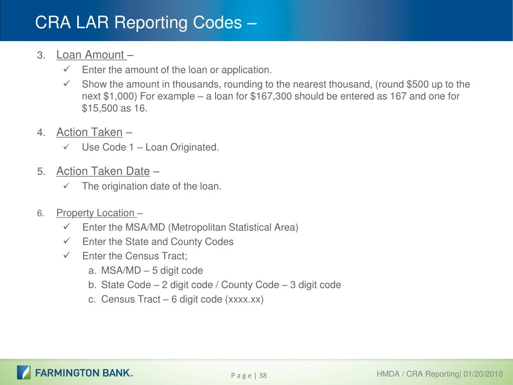 PPT - HMDA / CRA Data Collection PowerPoint Presentation - ID:862334