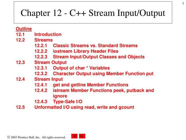 chapter 12 c stream input output