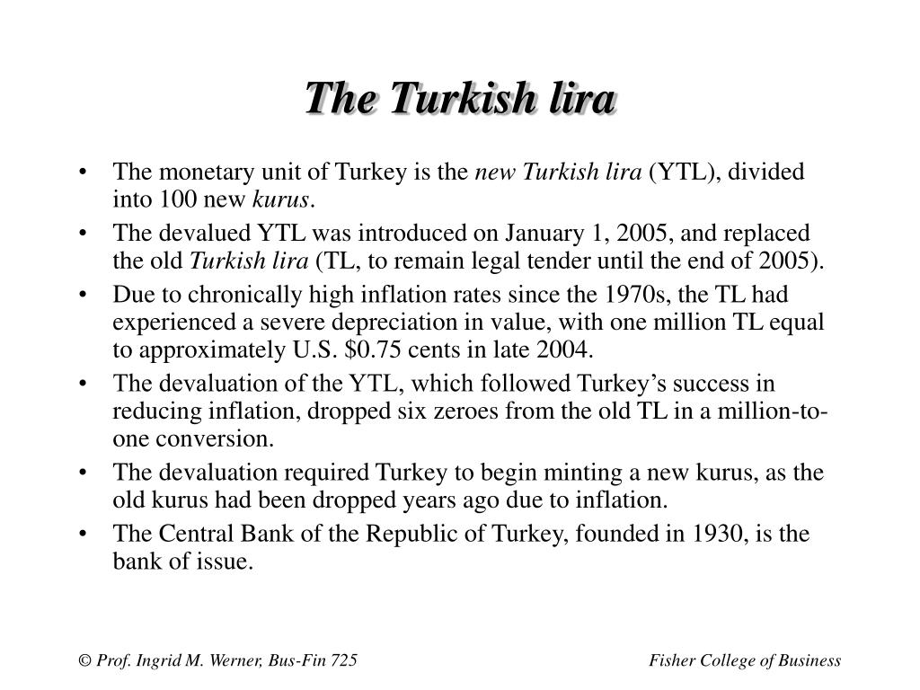 The Turkish lira