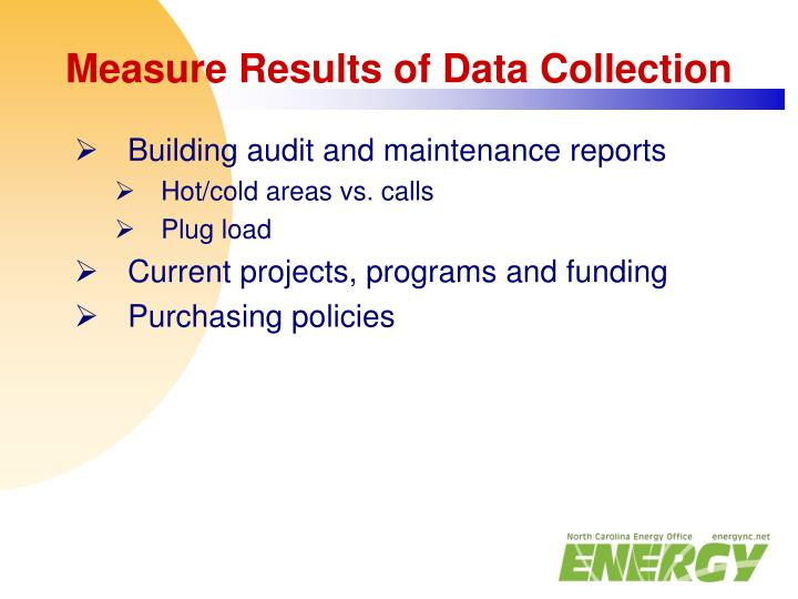 Measure Results of Data Collection
