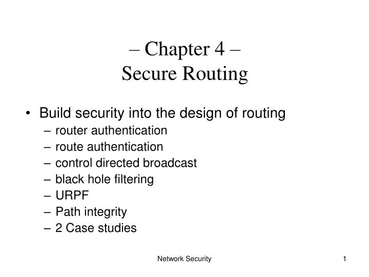 chapter 4 secure routing n.