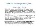 the real exchange rate cont