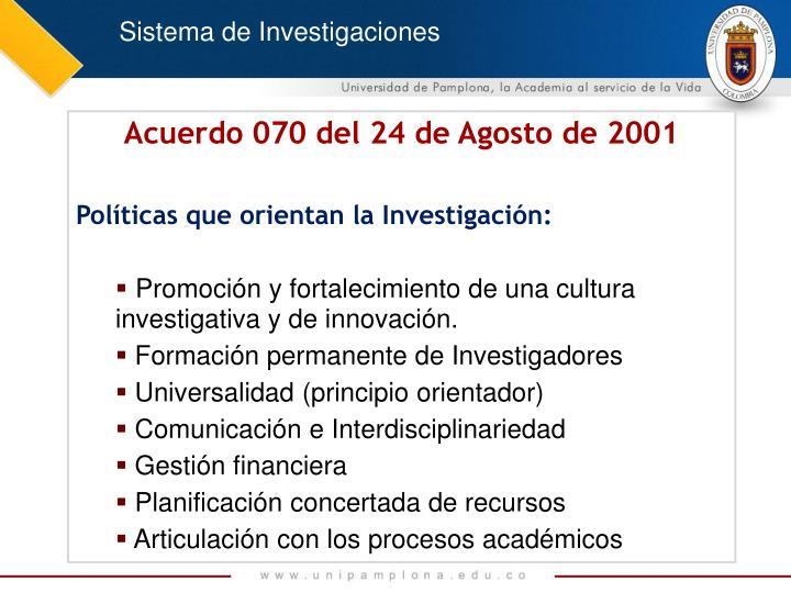 Sistema de Investigaciones