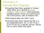 advantages of exchange rate targeting