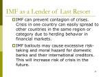 imf as a lender of last resort
